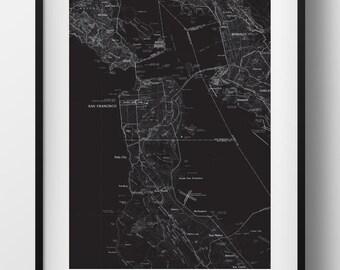 San Francisco Map Poster 11x17 18x24