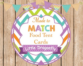 Made to Match Food Tent Cards