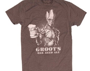 Groot Men's Beer Shirt Guardians of the Galaxy
