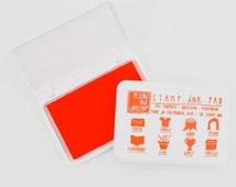 Orange Waterproof Ink Pad, Yellow Owl Workshop, All Purpose Ink, Scrapbooking Supply