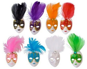 Mini Masquerade Mask Magnet Favors - (12 Masks) - Free Shipping!