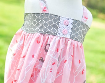 Boutique Dress, Customized Baby Dress, Toddler Ruffle Dress, Spring Dress, Custom Easter Dress,, Size 6 Dress, Size 7 Dress, Size 8 Dress