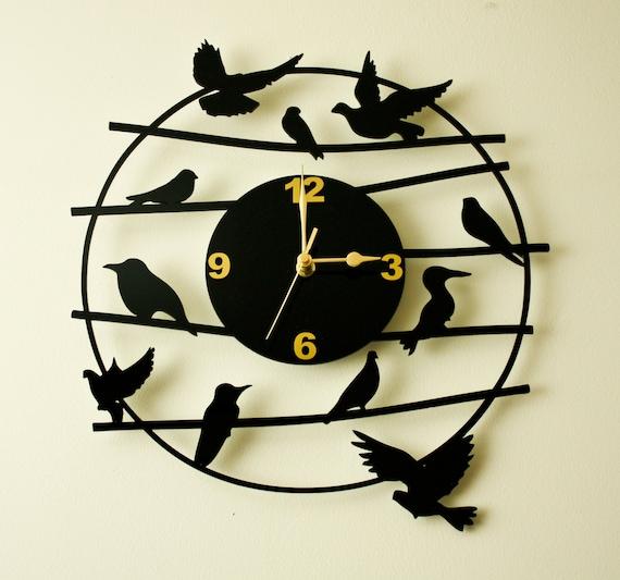 Laser Cut Acrylic Wall Clock