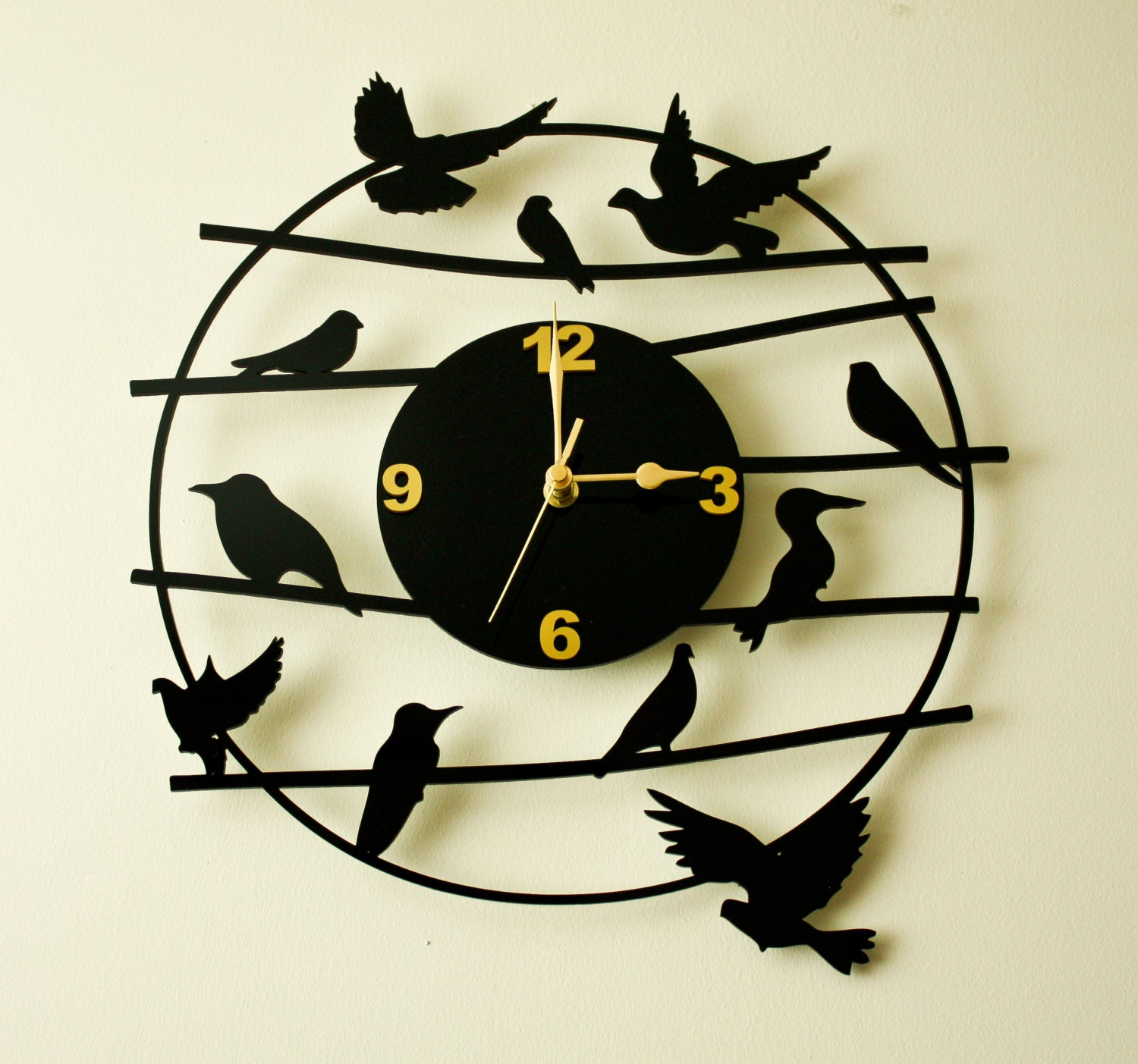 Laser Cut Acrylic Wall Clock