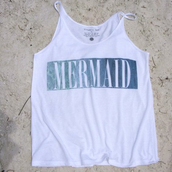 Mermaid Label Relaxed Tank