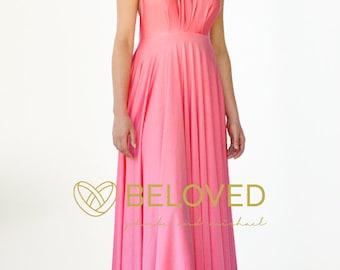 Convertible Infinity Dress Bridesmaid Dress Coral / Pink / Bright Pink