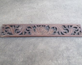 Architectual Antique Carved Wooden Wall Hanging