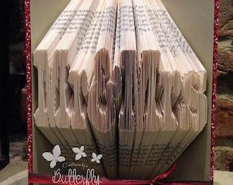 Book Folding Pattern 'Mr & Mrs' (322 Folds) PDF With Tutorial - Immediate Download