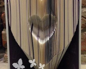 Book Folding Pattern 'Heart in Heart' (161 Folds) PDF & Tutorial - Immediate Download