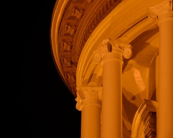 Architecture Dome night photography Auburn California Courthouse