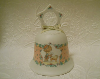 SALE! / 1993 Precious Moments Bisque Bell by Enesco Nativity bell Christmas bell