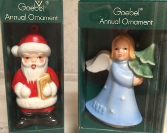 Goebel Christmas Ornaments set