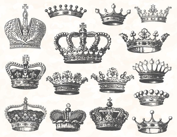 Vintage Crown Clip Art 37