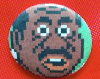 """Jerome 'Doc' Louis / Mike Tyson's Punch Out 1"""" Pin"""