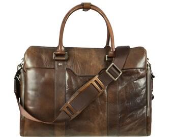Leather Briefcase, Men Leather Briefcase,modern briefcase,genuine leather briefcase,satchel,Cabin Travel Bag, shoulder bag-Angels and Demons
