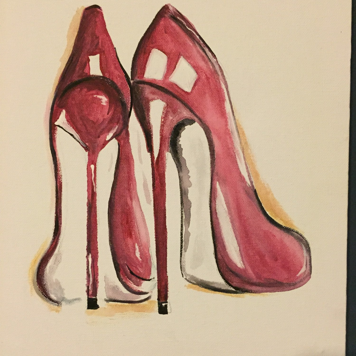 "Items similar to My Red High Heels 11""x14"" #painting # ..."