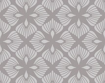 Reusable Wall Stencil Modern Floral Geometric Allover Pattern.  Available In 10 or 14 Mil Mylar at no extra charge.  SKU: S0048