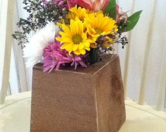 Reclaimed Barn Wood Vase Cover