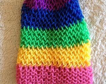Rainbow Childrens Spring Beanie