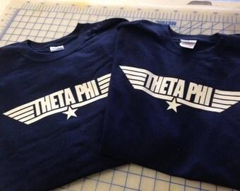 Theta Phi Alpha-Top Gun-Navy Short Sleeve Crew
