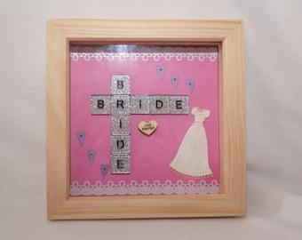 Handmade Bride and Bride tile frames
