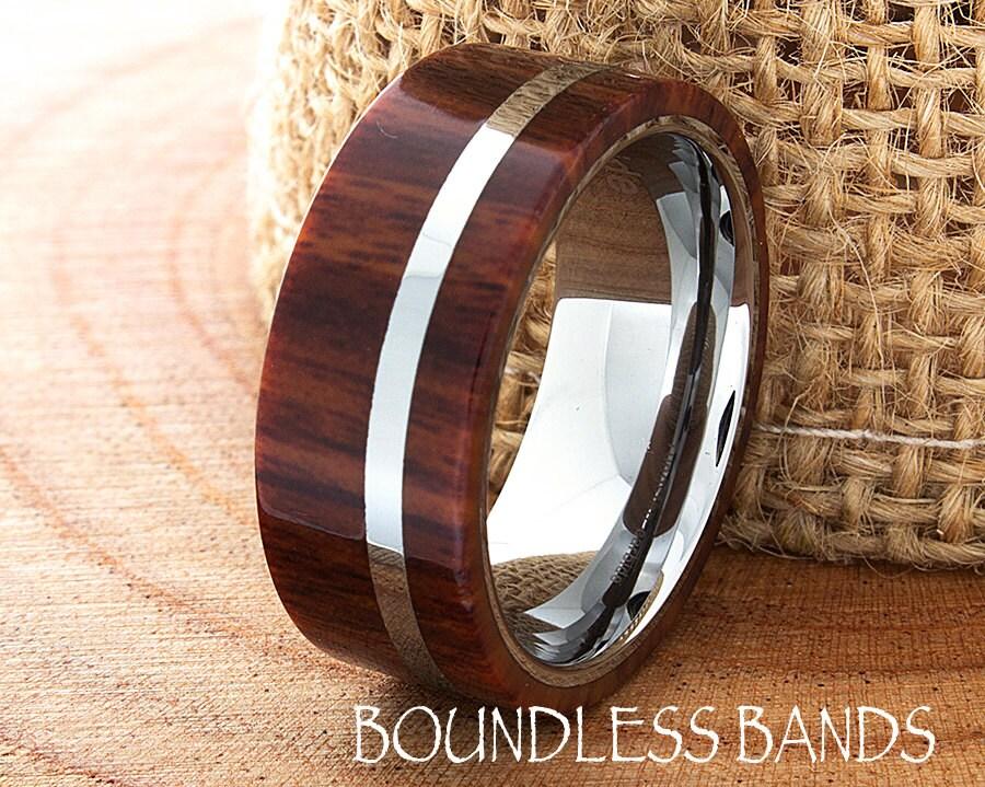 zoom - Koa Wood Wedding Rings