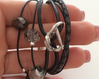 Leather belts for children or small wrists, magnetic clasp bracelet