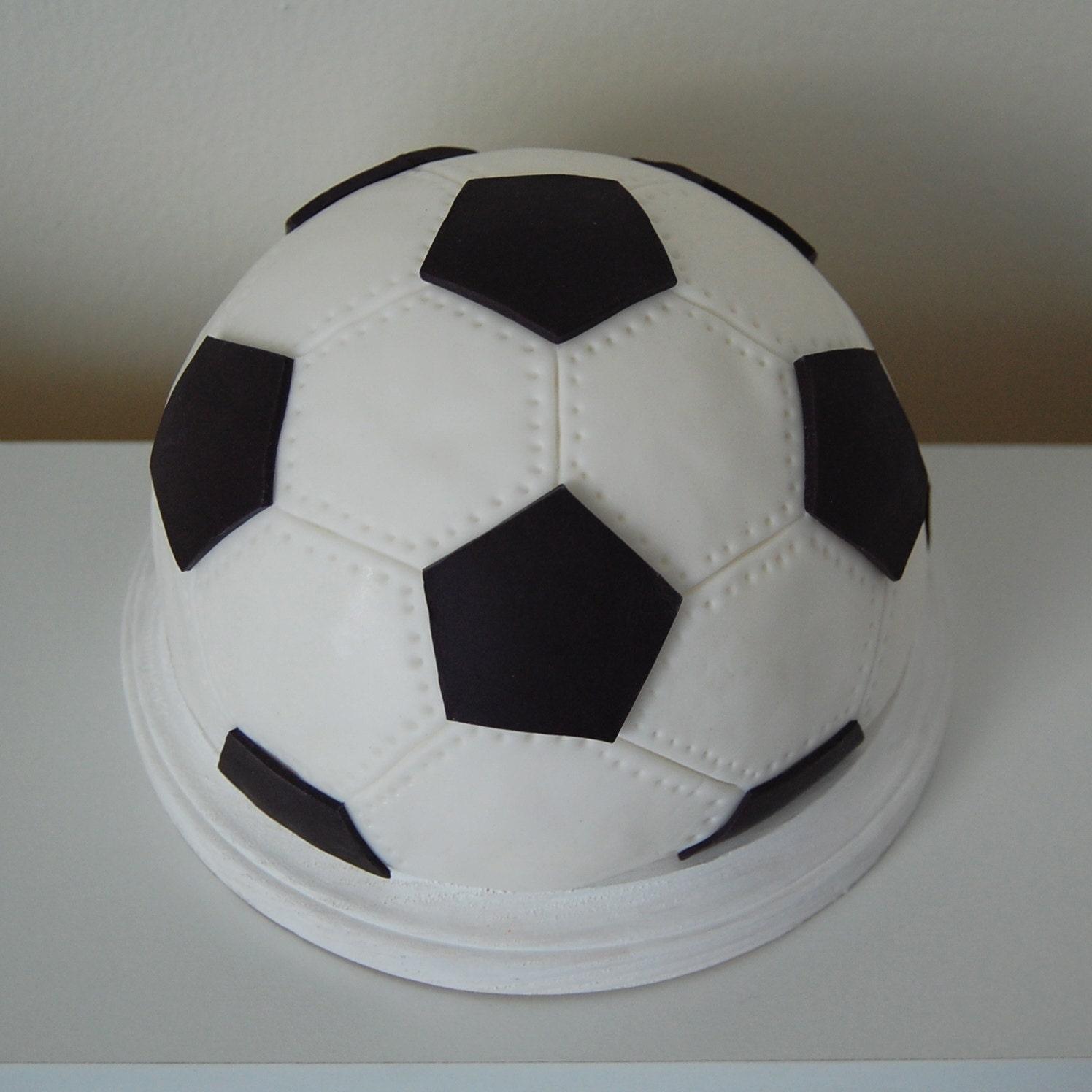 Fondant 3D Soccer Ball Cake Topper