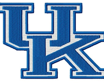 "University of Kentucky - UK Logo - Hoop sizes 4""x4"" 5""x7"", 6""x10"" - Finished product 2""x2"", 3""x3"", 3.5""x4"", 4""x6"""