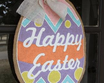 Happy Easter Burlap Door Hanger