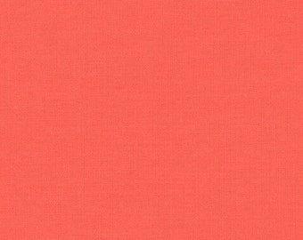 6.99 FINAL CLEARANCE SALE! Monaluna Organic Cotton Coral Solid Fabric