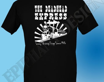 The Grateful Dead Inspired T-Shirt Long Strange Trips Deadhead Express