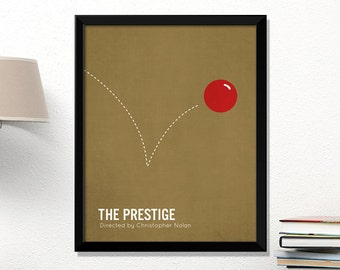 Prestige movie poster, minimalist, cinema, The Prestige, Hugh Jackman, contemporary art