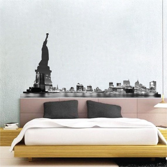 NYC Skyline Wall Decal New York Skyline Wall Decal By PrimeDecal
