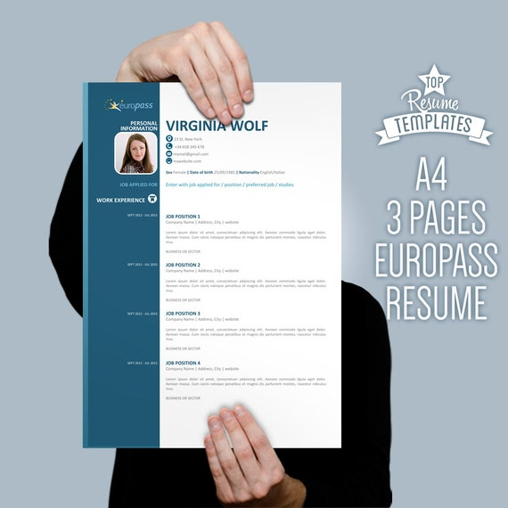 curriculum vitae template europass modern by topbusinesstemplates