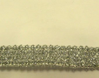 Metallic Silver Designer Braid/Gimp/Trim Craft/Haberdashery -sy02