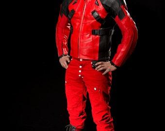 Deadpool Costume Motorcycle jacket