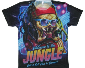 Welcome to the Jungle KIDS' & TEEN Shirt Inspired by Predator, Guns n' Roses, Hard Rock, Villain, 80's, Comic Con, Funny Shirt, Arnold Movie