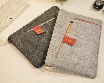 Zipper Felt Mac book Air 11 inch Case , 12 Macbook 2015 , Macbook Air 11 inch Case , Felt 13 Macbook Sleeve , Felt 13 Macbook Air Case #209
