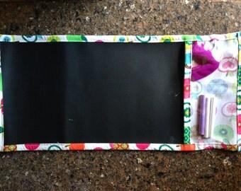 Travel roll-up chalkboard
