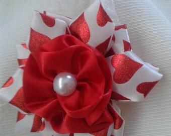 red rose baby headband, hearts baby headband, baby flower headband,red baby headband,red rose headband, flower headband, red flower headband
