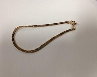 Vintage Goldtone Chain Bracelet, 7.25'' Long