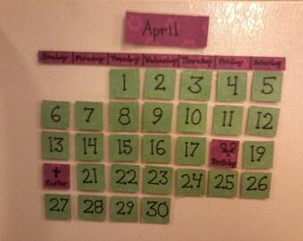Perpetual Fridge Calendars