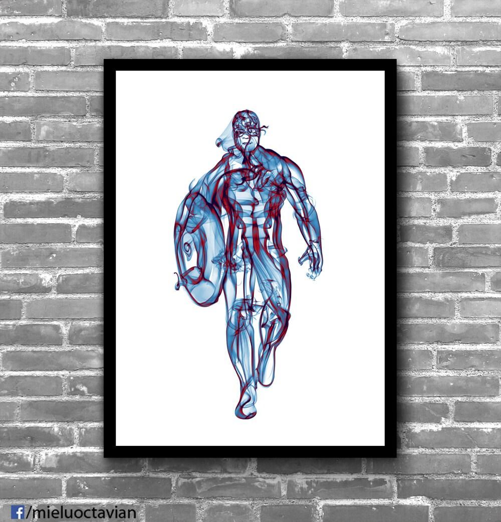 Captain America Marvel Wall Art Marvel Nursery Marvel Wall