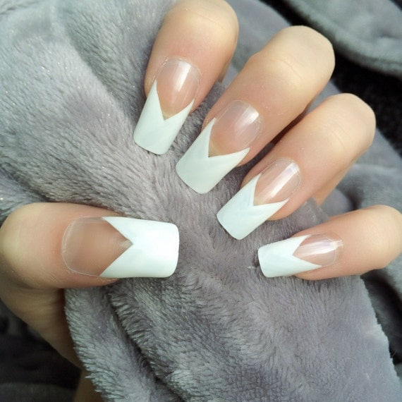 Dynamic Views Very Beautiful And Preity Nails Art Red: Doobys Long Nails French Manicure 24 Hand Painted By DoobysUK