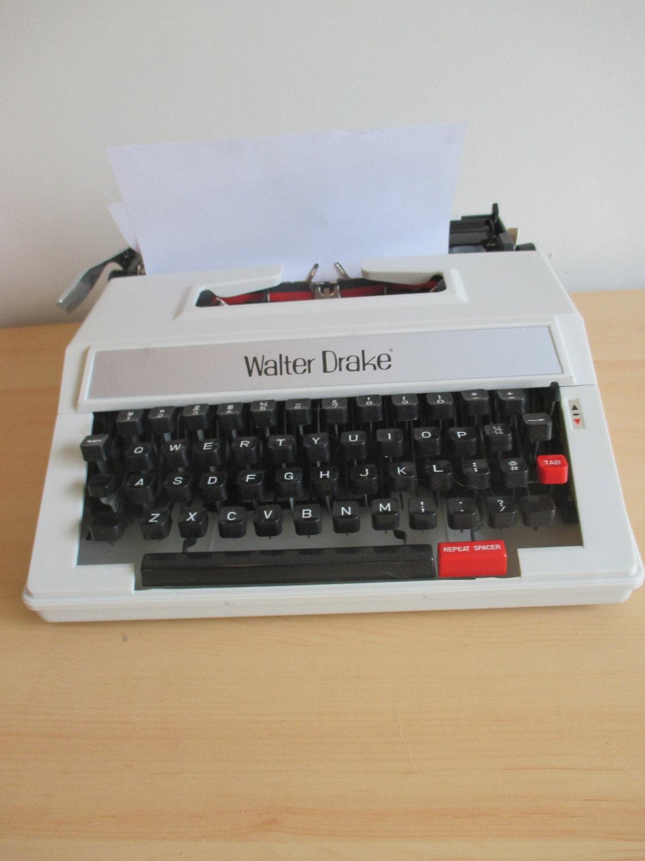 Vintage Walter Drake Typewriter by PrizeWinningPony on Etsy