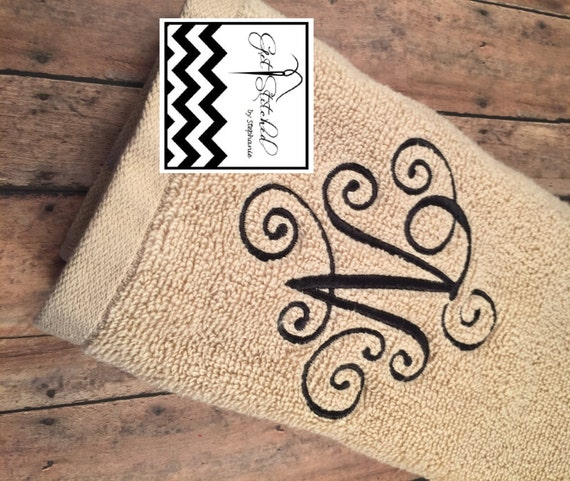 Monogrammed Towels By GetStitchedBySteph On Etsy