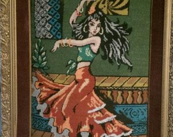 60s dancing gypsy drawing