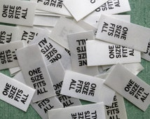 100 Professional Garment Sew In Size Labels