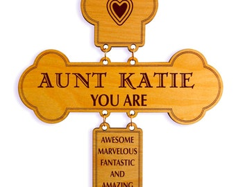 Custom Mothers Day Decorative Wall Cross for my Aunt,Aunt Appreciation Plaque, Gift to my Aunt, Special  Aunt Gift, Cross Wall Hanging.